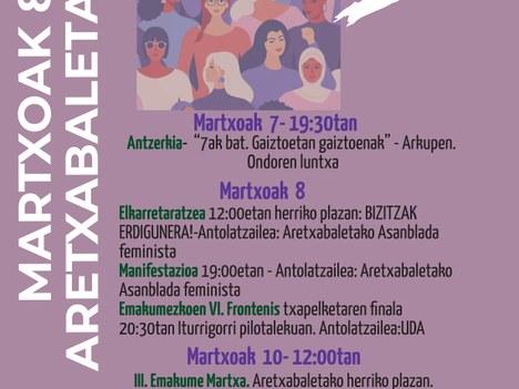 8 de marzo en Aretxabaleta