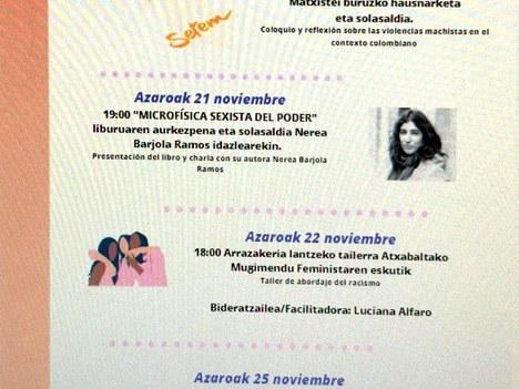 Actividades con motivo del Día Internacional Contra la Violencia hacia las Mujeres
