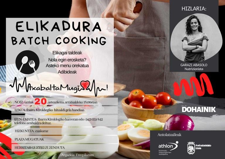 AtxabaltaMugi organiza una serie de charlas para fomentar la alimentación saludable