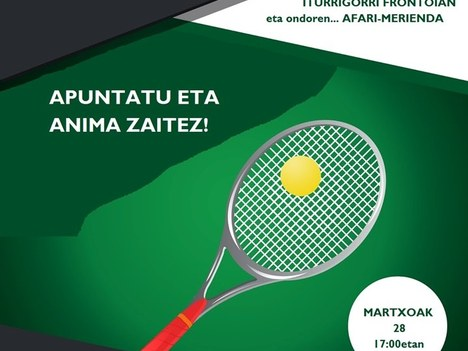 Campeonato de frontenis para jóvenes del municipio de entre 11 y 17 años