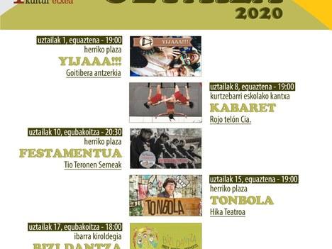 Cinco espectáculos ambientarán la calle durante el mes de julio