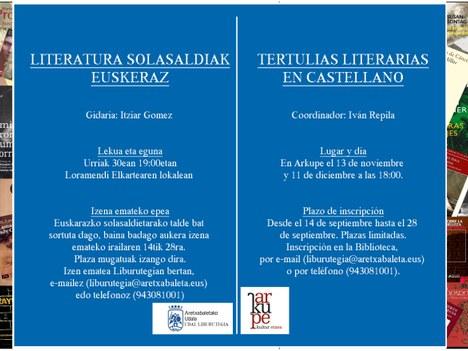 La biblioteca municipal ha organizado tertulias literarias para los próximos meses