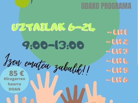 'Loratu', un programa de verano que responderá a las necesidades derivadas de la falta de colonias