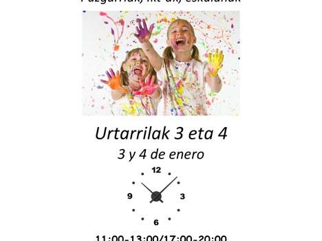 Parque de navidad en Ibarra kiroldegia