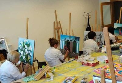 Trabajos realizados por los alumnos de pintura