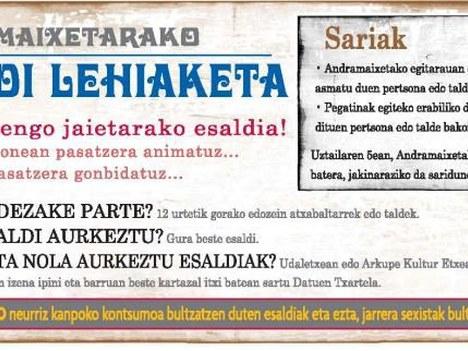 2011ko Andramaixetako kartel iragarlea aukeratzeko lehiaketa