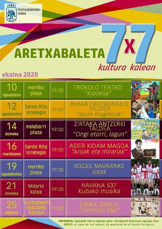 '7x7 Kultura kalean' programak kultura berreskuratuko du herrian