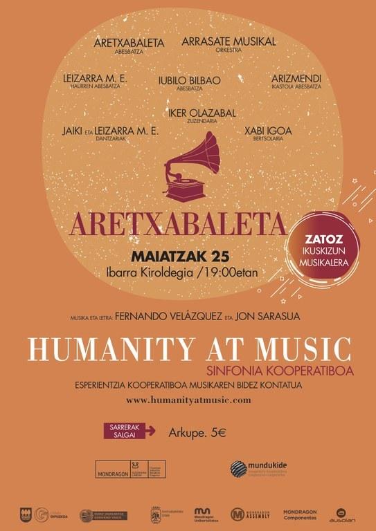 Aretxabaletako Ibarra Kiroldegian izango da Sinfonia Kooperatiboaren hurrengo geldialdia