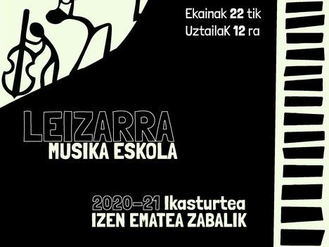 Leizarra Musika Eskola 2020-21 ikasturteko matrikula epea zabalik