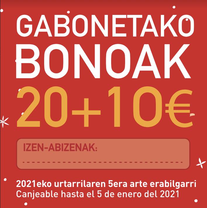 Tokiko kontsumoa sustatzeko '20+10' bonoak astelehenean jarriko dira salgai