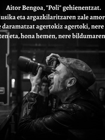 """Argazki erakusketa: """"Musika kontzertuak """"Poli""""ren ikuspegitik"""""""
